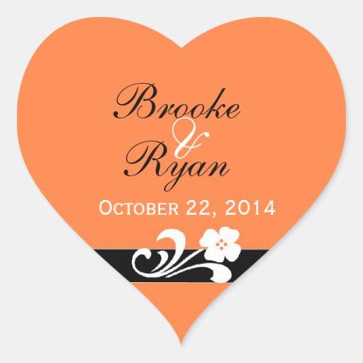 Fall Wedding Heart Sticker