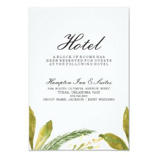 Fall wedding Hotel Card - Rustic Harvest Greenery