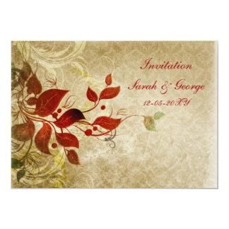 "fall wedding Invitation cards 5"" X 7"" Invitation Card"