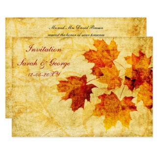 fall wedding Invitation cards