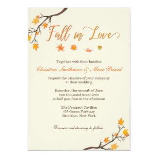 Fall Wedding Invitations - Fall in Love