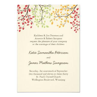 "Fall Wedding Invites 5"" X 7"" Invitation Card"