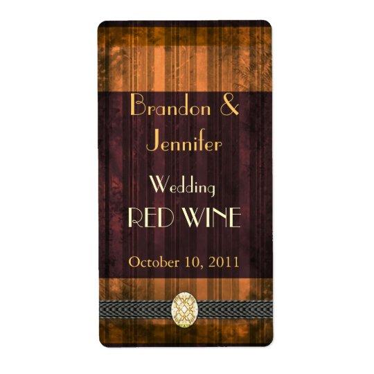 Fall Wedding Mini Wine Labels