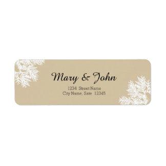 Fall Wedding Return Address Label