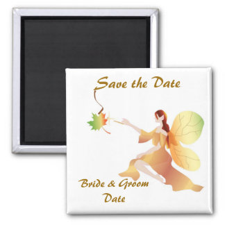 Fall Wedding Save the Date Magnet