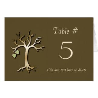 Fall wedding table card