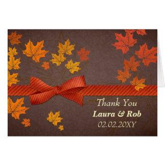 fall wedding Thank You Card