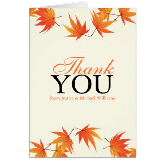 Fall Wedding Thank You Card