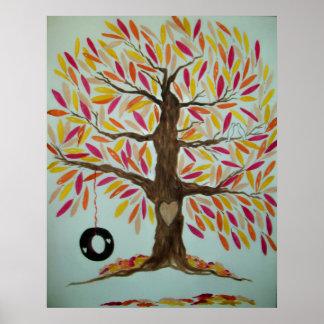 Fall Wedding Tree Print