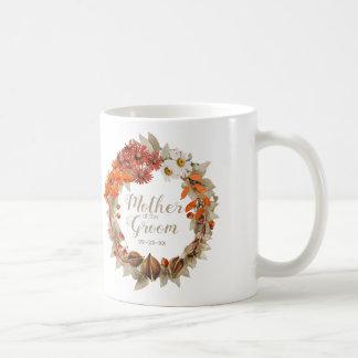 Fall Wedding Wreath Orange Mother of Groom ID465 Coffee Mug