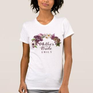 Fall Wedding Wreath Plum Mother of the Bride ID465 T-Shirt