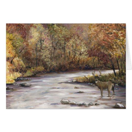 Fall Whitetail Deer Thanksgiving Greeting Card