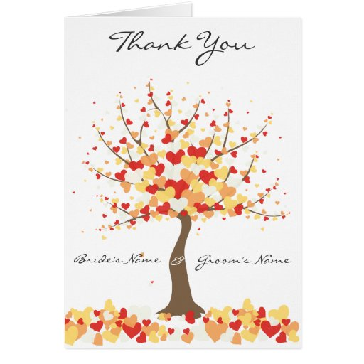 Fall/Winter Wedding  - Thank You Note Card