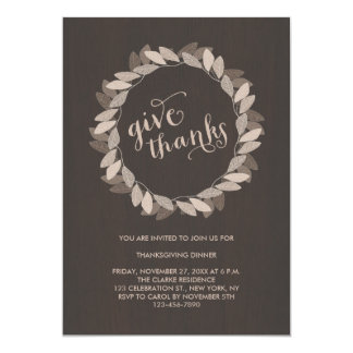 Fall Wreath | Thanksgiving Dinner Invitation