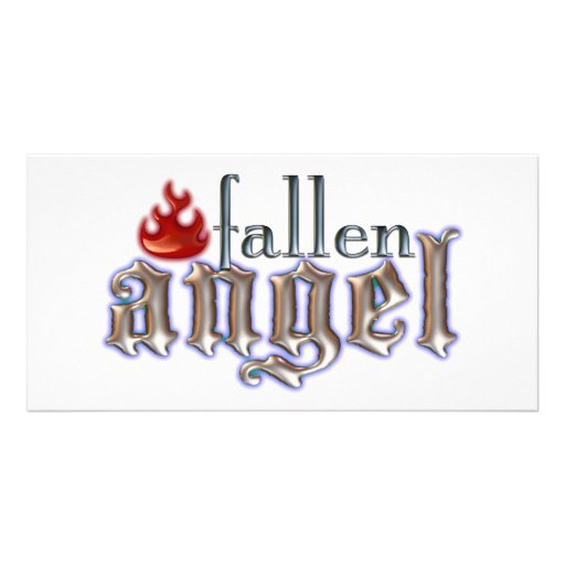 Fallen Angel Photo Card Template