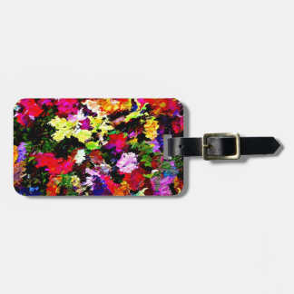Fallen Autumn Leaves Abstract Luggage Tag