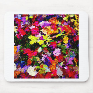 Fallen Autumn Leaves Abstract Mouse Pad