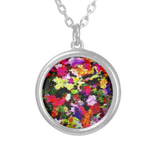Fallen Autumn Leaves Abstract Silver Plated Necklace