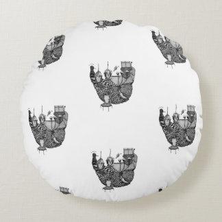 fallen deeply round pillow
