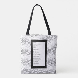 """Fallen/Forever Rising"" Poetry Tote Bag"