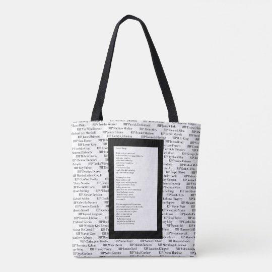 """Fallen/Forever Rising"" Poetry Tote Bag"
