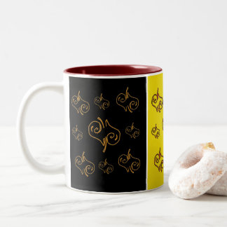 Fallen Hearts Two-Tone Coffee Mug