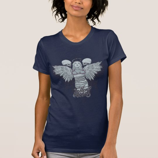 Fallen Icons Low cut t-Shirt Wings on back