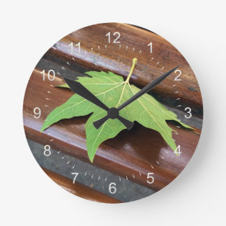 fallen leaf wallclocks