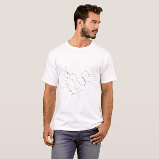 Fallen Leaves Pen Sketch Line Art T-Shirt