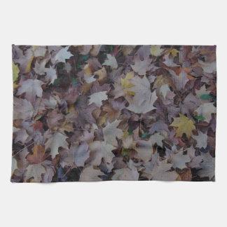 Fallen Maple Leaves Kitchen Towel