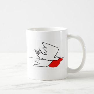 fallen pigeon coffee mug