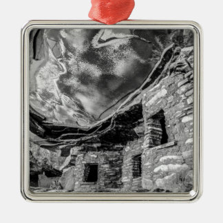 Fallen Roof Anasazi Ruins - Cedar Mesa - Utah Silver-Colored Square Ornament