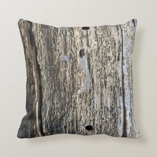 Fallen Timber Wood Grain Throw Pillow