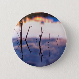 Fallen Twiggy Reflections 2 Inch Round Button