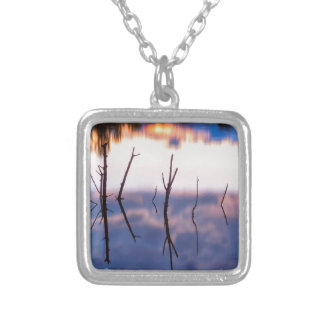 Fallen Twiggy Reflections Silver Plated Necklace