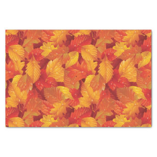 Fallen wet leaves. Autumnal background Tissue Paper