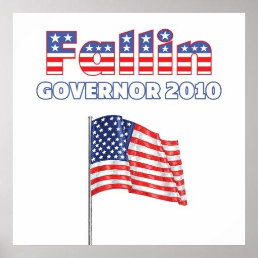 Fallin Patriotic American Flag 2010 Elections Poster