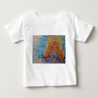 Falling Angel Afire Baby T-Shirt