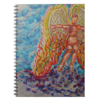 Falling Angel Afire Notebook