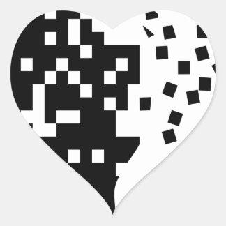 Falling Apart Heart Sticker