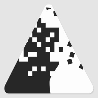 Falling Apart Triangle Sticker