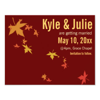 Falling Autumn Leaves Save-the-Date Announcements