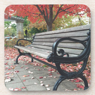 Falling Benches and Sitting Leaves Coaster