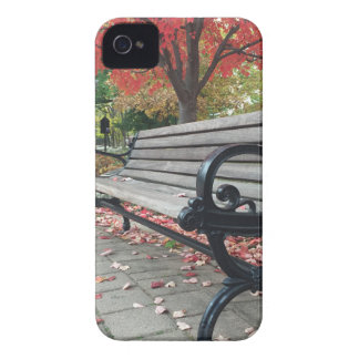 Falling Benches and Sitting Leaves iPhone 4 Covers