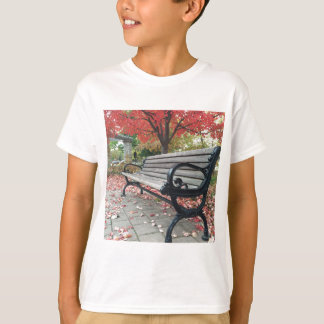 Falling Benches and Sitting Leaves T-Shirt