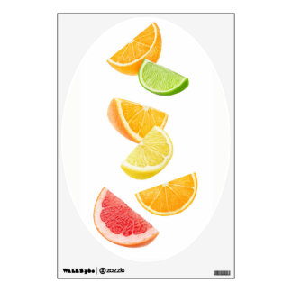 Falling citrus slices wall sticker