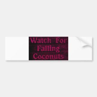Falling Coconuts Bumper Sticker