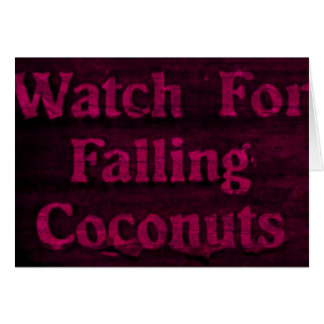 Falling Coconuts Card