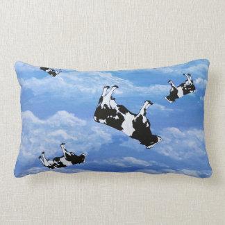 Falling Cows Lumbar Pillow