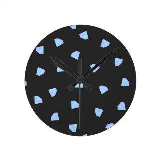 Falling Diamonds Round Clock